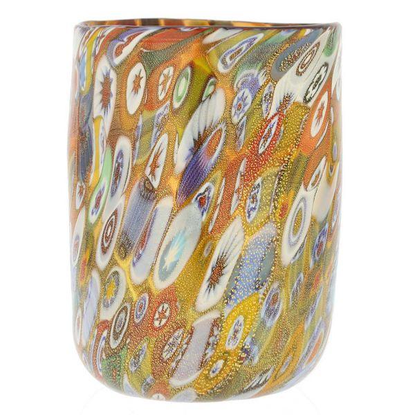 Murano Drinking Glass - Gold Millefiori