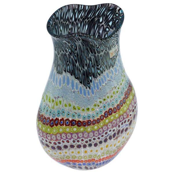 Eden Murano Glass Millefiori Vase - Large