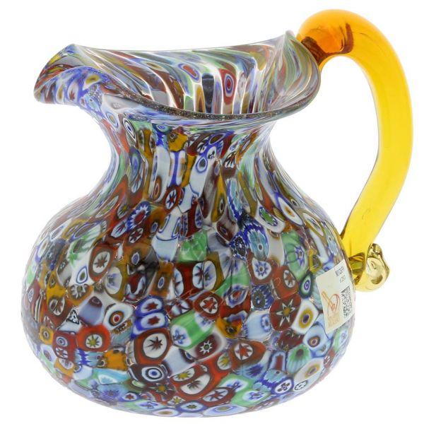 Murano Glass Millefiori Pitcher / Carafe