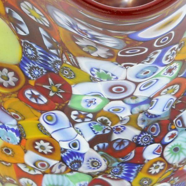 Murano Millefiori Fazzoletto Bowl - Red