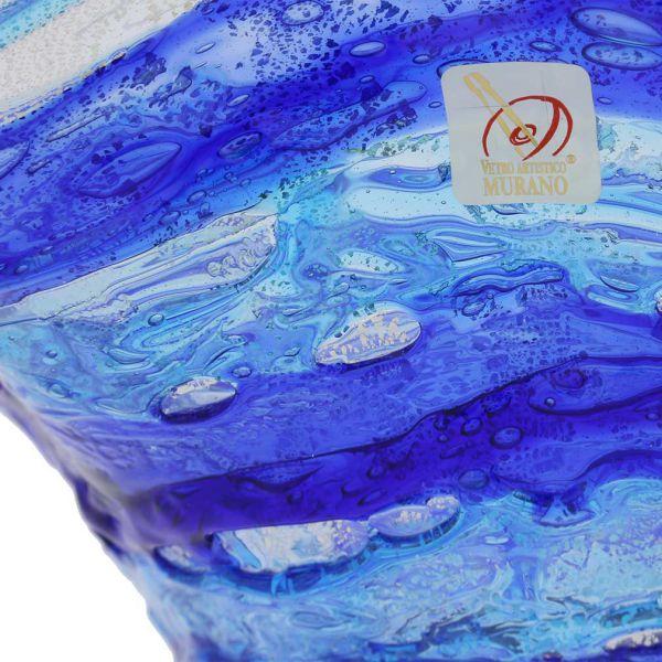 Murano Sbruffo Fazzoletto Bowl - Blue