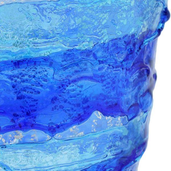 Murano Sbruffo Fazzoletto Vase - Blue