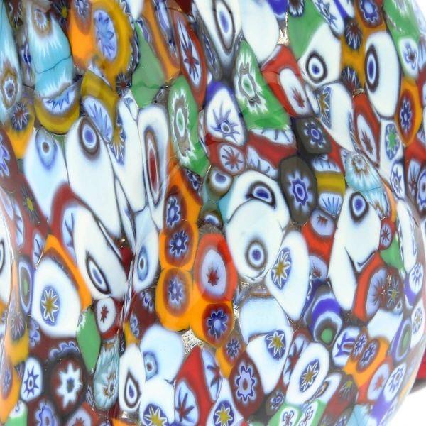 Murano Art Glass Millefiori Dog Sculpture