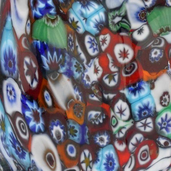 Murano Art Glass Millefiori Owl Sculpture
