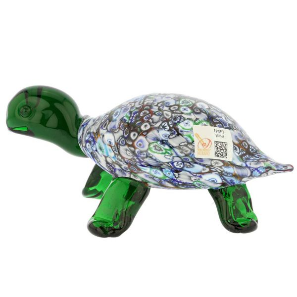 Murano Art Glass Millefiori Turtle Sculpture