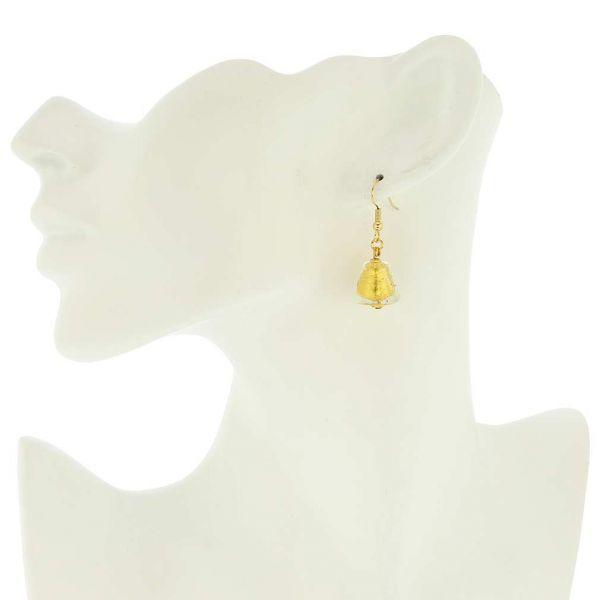 Starlight Cones Earrings - Liquid Gold
