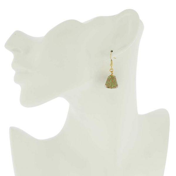 Starlight Cones Earrings - Seafoam Green