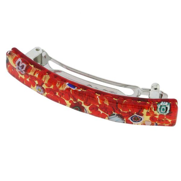 Venetian Reflections Hair Clip - Red Gold