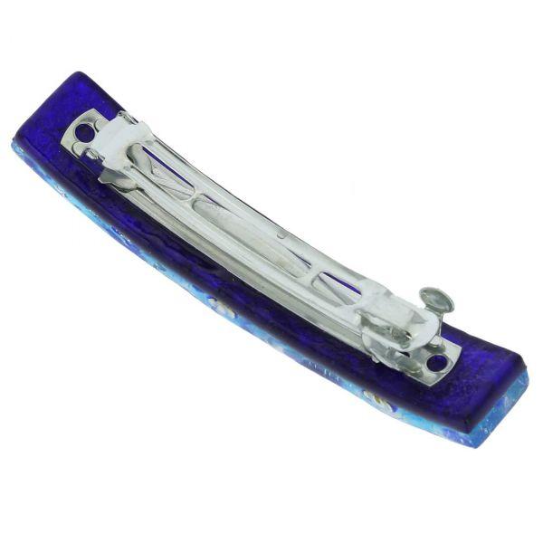 Venetian Reflections Hair Clip - Aqua Blue