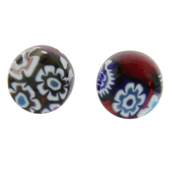 Murano Glass Millefiori Necklace and Earrings Set - Round
