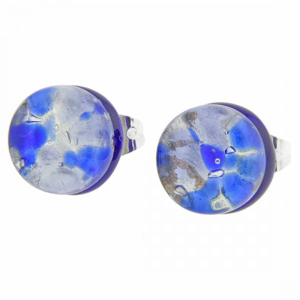 Venetian Reflections Round Stud Earrings - Periwinkle