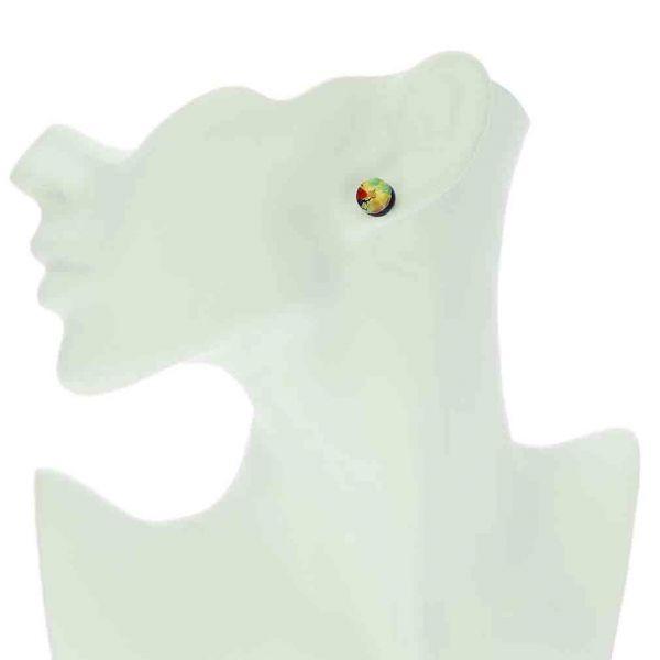 Venetian Reflections Round Stud Earrings - Golden Meadow