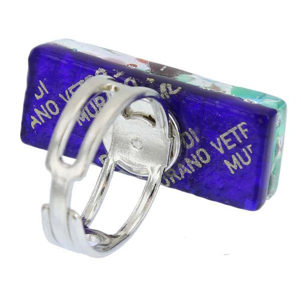 Venetian Reflections Rectangular Ring - Silver Meadow