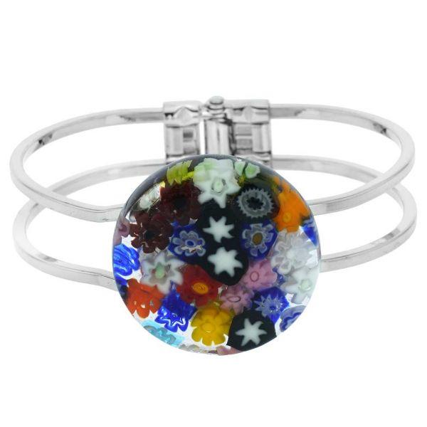 Venetian Reflections Metal Bracelet - Multicolor Millefiori