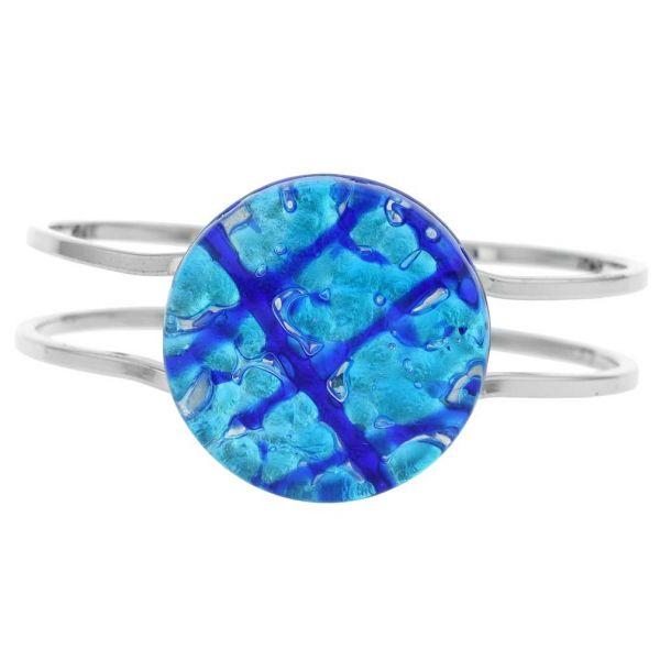 Venetian Reflections Metal Bracelet - Aqua Blue