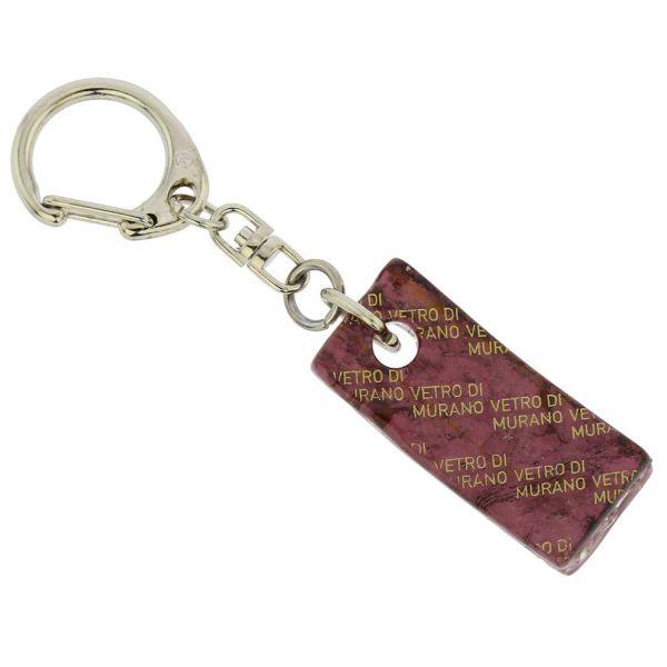 Murano Colors Stick Keychain - Purple Silver
