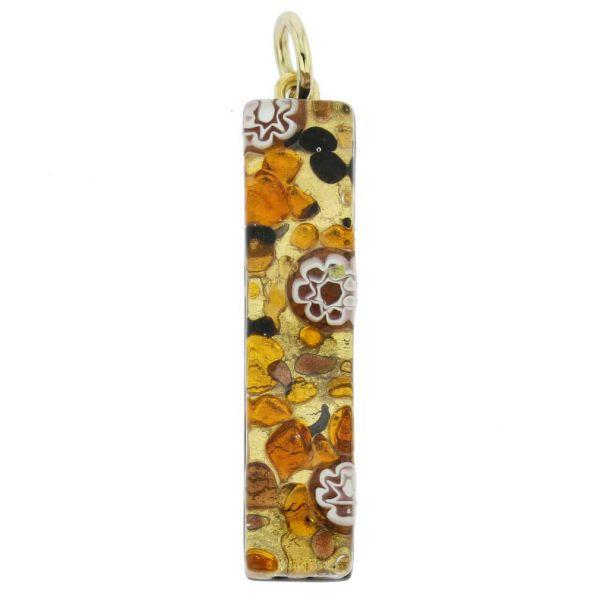 Venetian Reflections Stick Pendant - Topaz Gold
