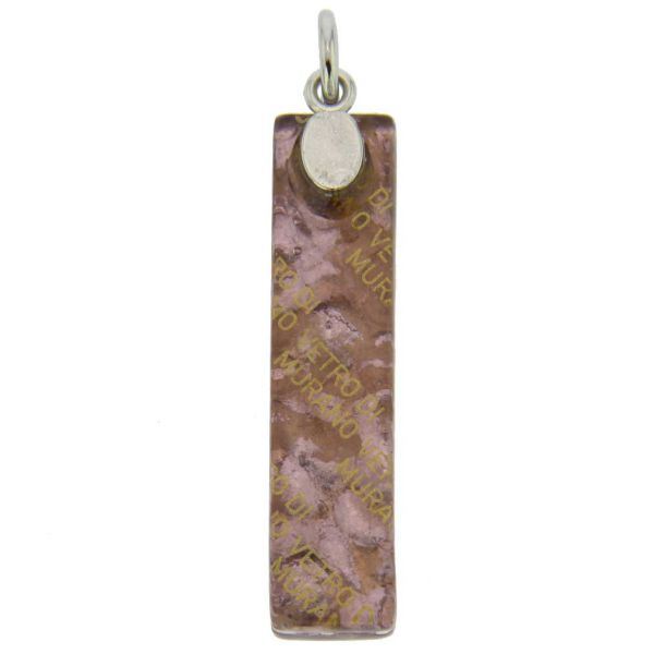 Venetian Reflections Stick Pendant - Purple Silver
