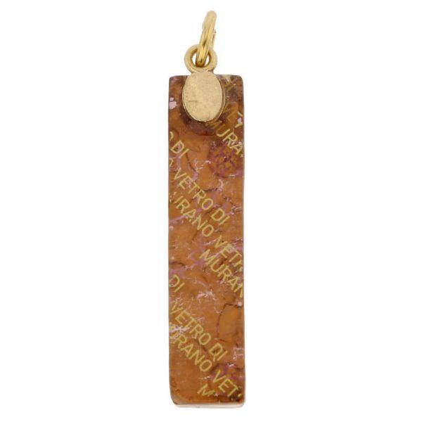 Venetian Reflections Stick Pendant - Purple Gold