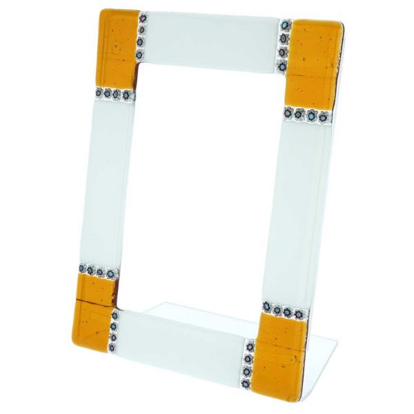 Murano Glass Photo Frame Ducale 4X6 Inch