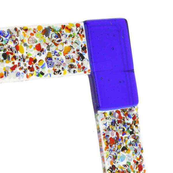 Murano Klimt Photo Frame - Blue 4X6 Inch