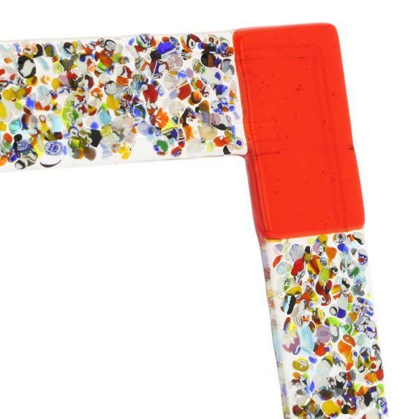 Murano Klimt Photo Frame - Red 4X6 Inch