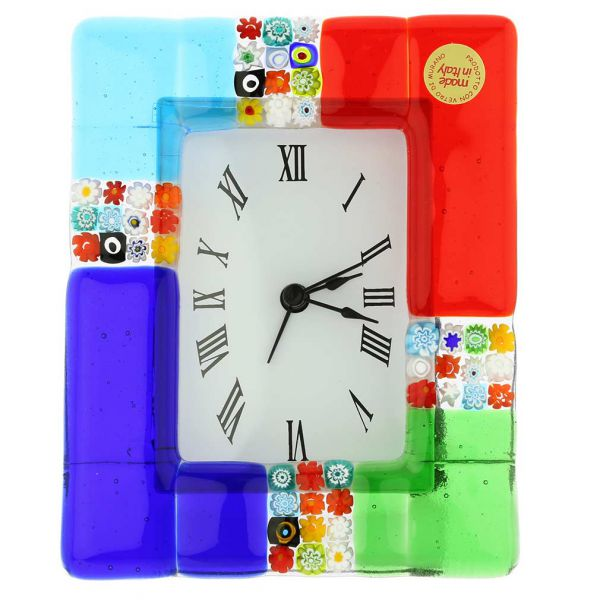 Venetian Glass Alarm Clock San Marco