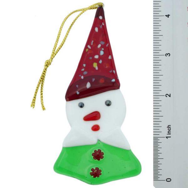 Murano Glass Elf Christmas Ornament - Italian Flag Colors