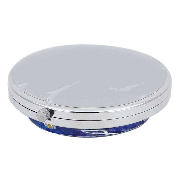 Murano Millefiori Folding Compact Mirror - Aqua Blue