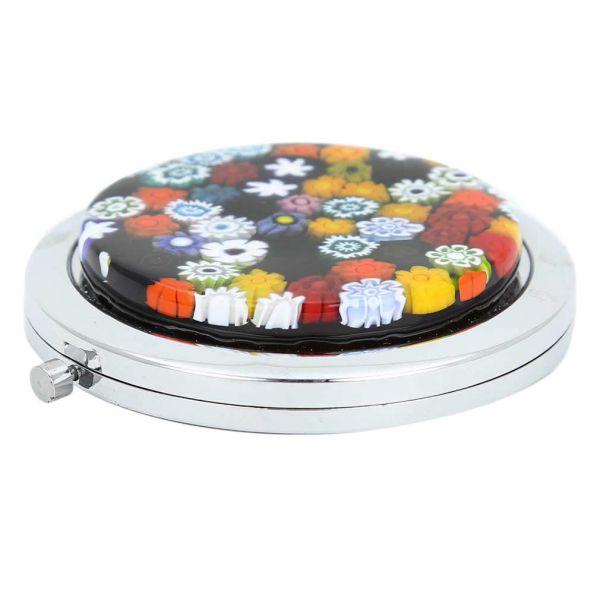 Murano Millefiori Folding Compact Mirror - Multicolor