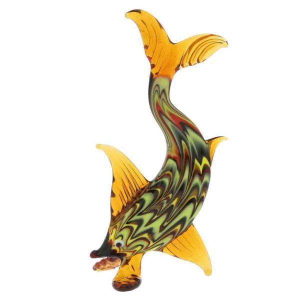 Festooned Glass Elongated Fish
