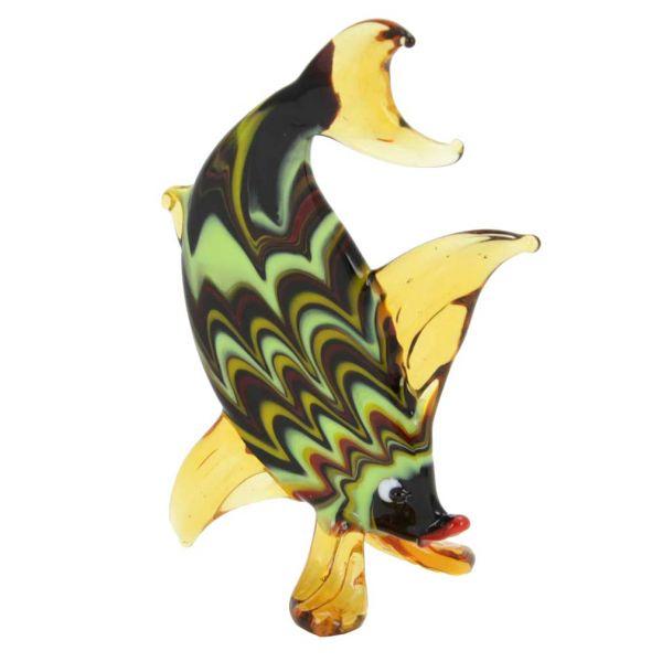 Festooned Glass Oval Fish