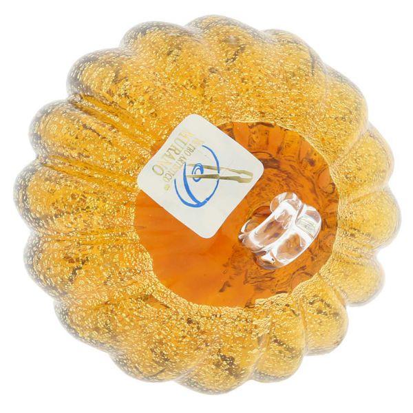 Murano Glass Medium Christmas Ornament - Golden Brown