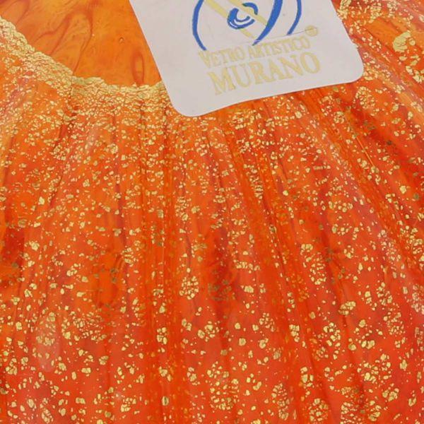 Murano Glass Medium Christmas Ornament - Orange