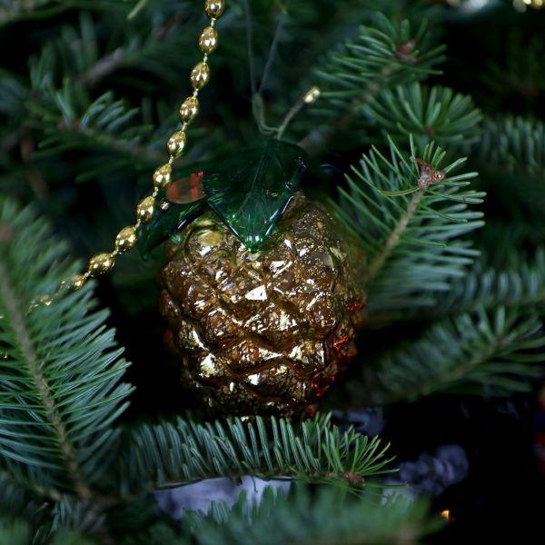 Murano Glass Pine Cone Hanging Figurine
