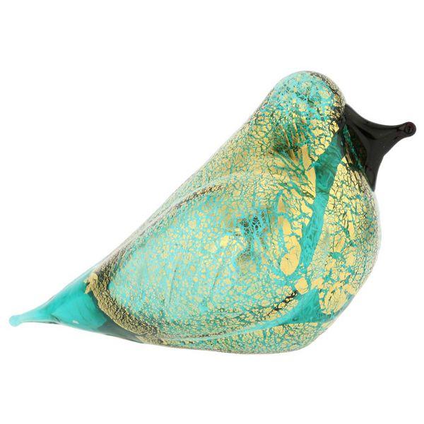 Murano Glass Bird - Aquamarine