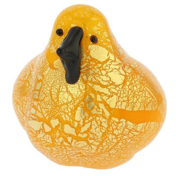 Murano Glass Bird - Yellow