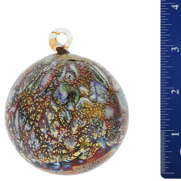 Murano Glass Medium Christmas Ornament - Festive Lights