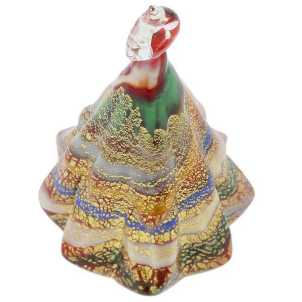Murano Glass Christmas Tree Hanging Figurine - Red
