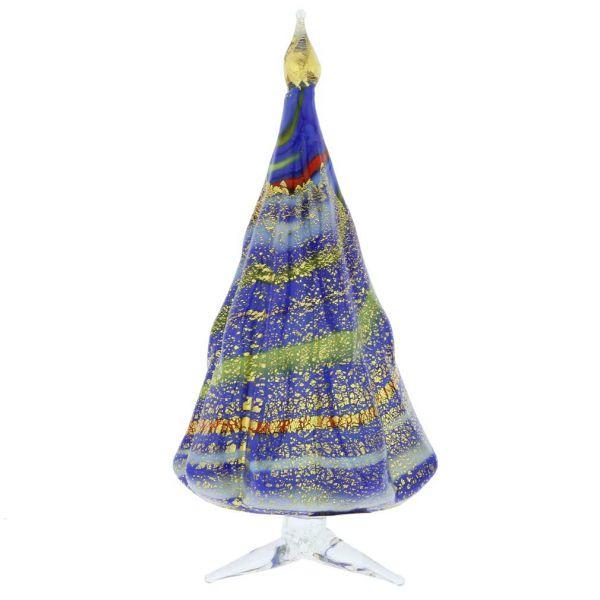 Murano Glass Christmas Tree Standing Sculpture - Blue