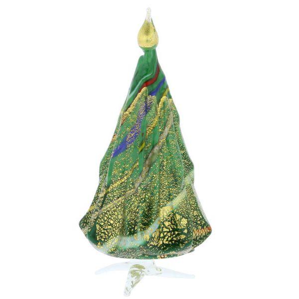 Murano Glass Christmas Tree Standing Sculpture - Green