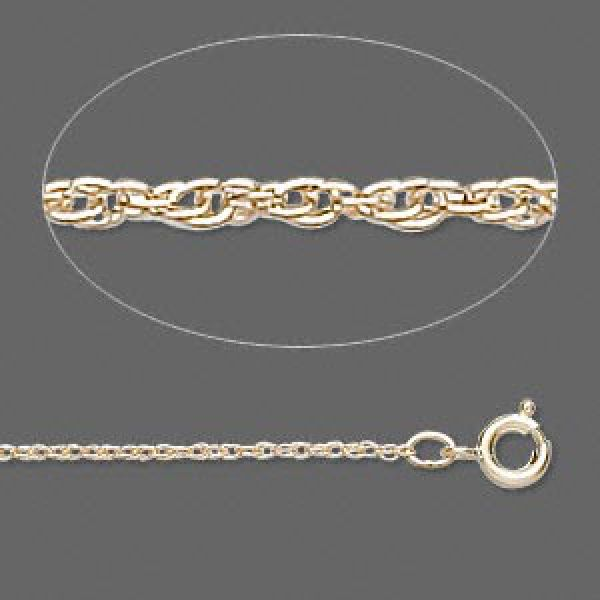 Gold-Filled Triple-Rope Chain, 1mm Links - 18 Inches
