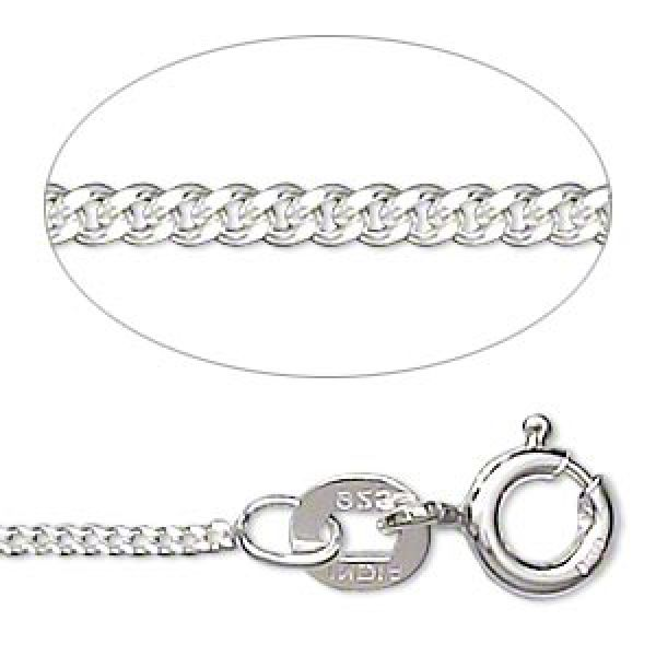 Sterling Silver Round Cable Chain, 1.2mm Links - 16 Inches