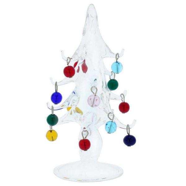 Murano Glass Christmas Tree With Ornaments - Medium