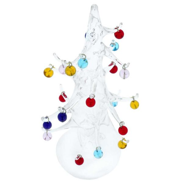 Murano Glass Christmas Tree With Ornaments - Large