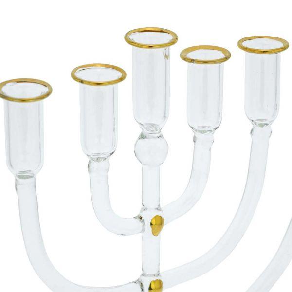 Murano Glass Nine Branch Menorah