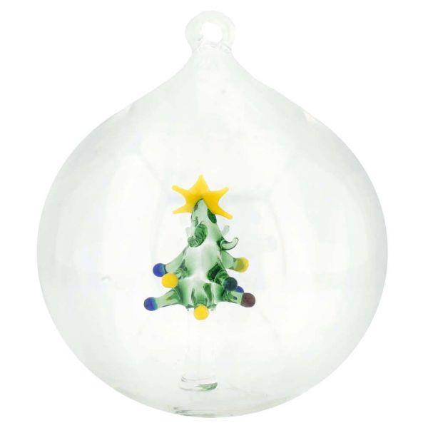 Murano Glass Christmas Tree Ball Christmas Ornament