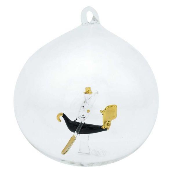 Murano Glass Gondola Christmas Ornament