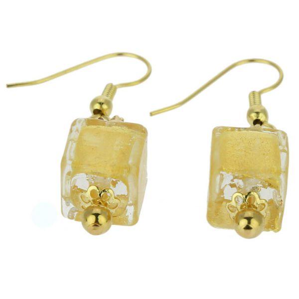 Antico Tesoro Cubes Earrings - Gold