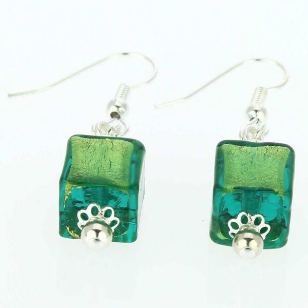 Antico Tesoro Cubes Earrings - Silver Ocean